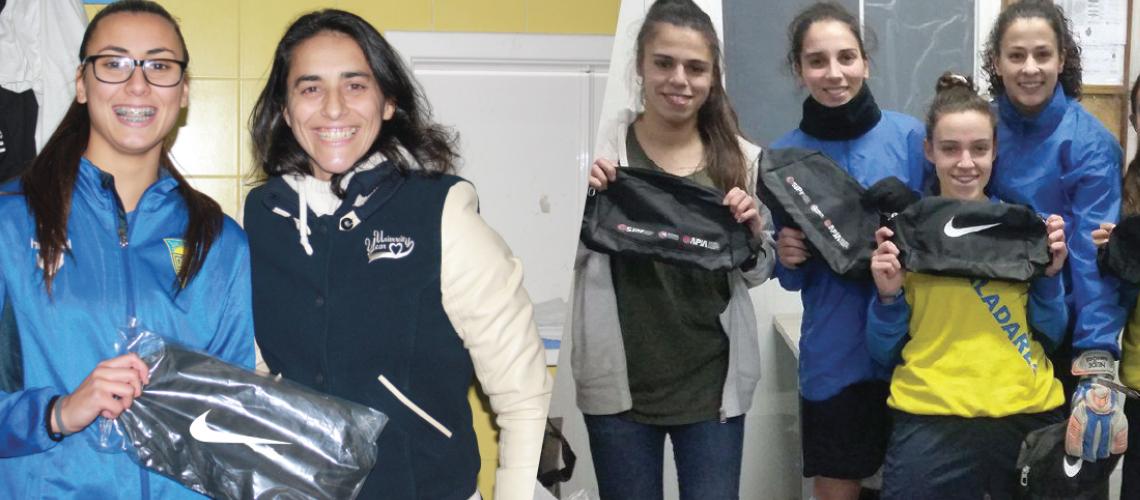 Jogadoras recebem bolsas Nike