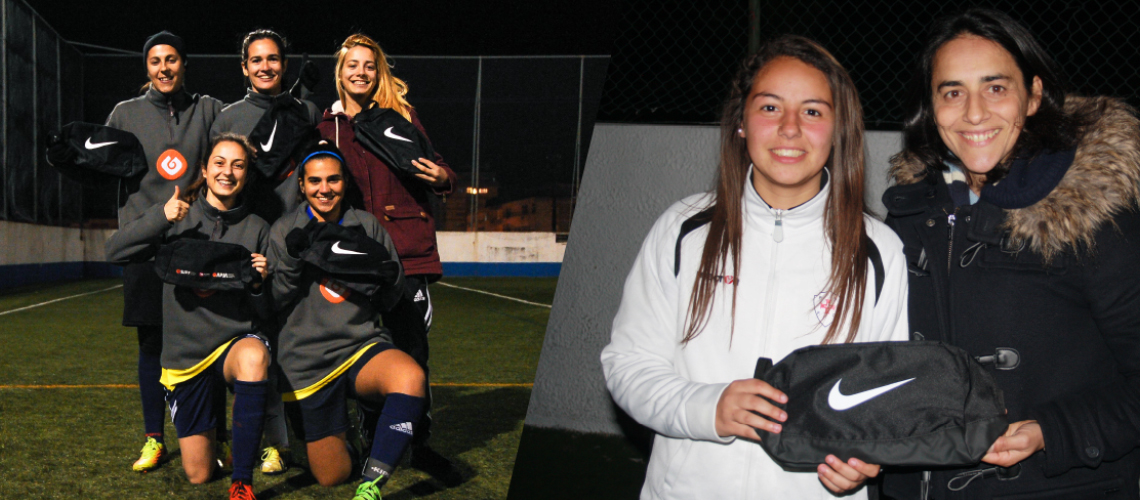 APJA e SJPF entregam bolsas Nike às jogadoras