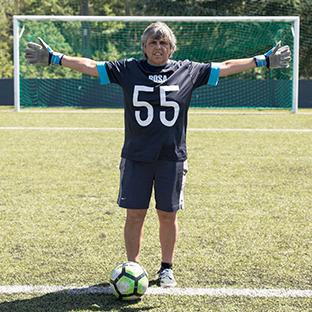 O casamento de Rosa com o futebol